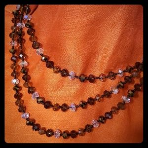 Joan Rivers Glass Bead Earth Tone Necklace